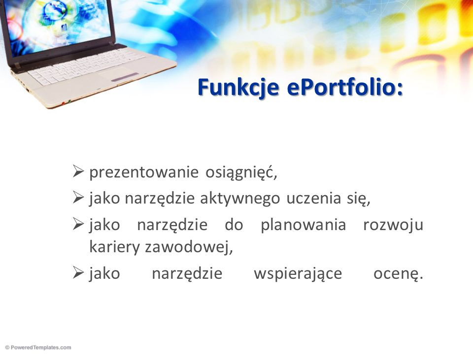 Funkcje ePortfolio: prezentowanie osiągnięć,