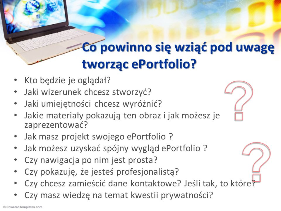 Co powinno się wziąć pod uwagę tworząc ePortfolio