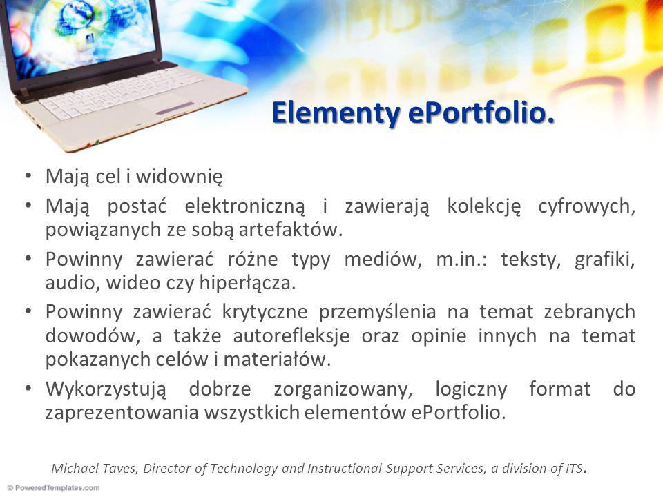 Elementy ePortfolio. Mają cel i widownię