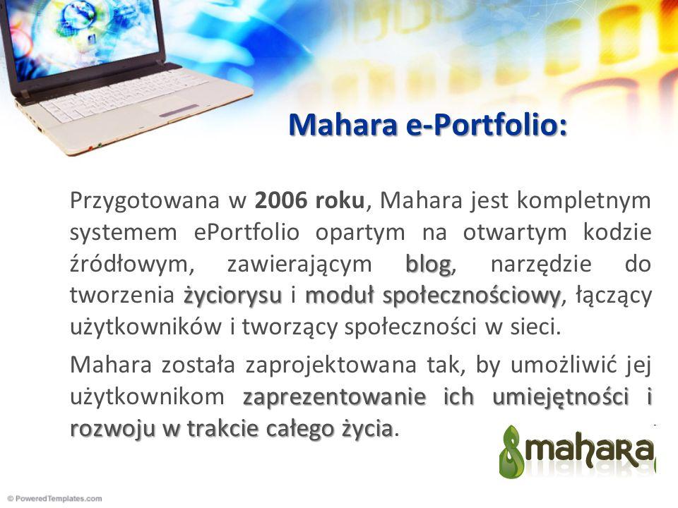 Mahara e-Portfolio: