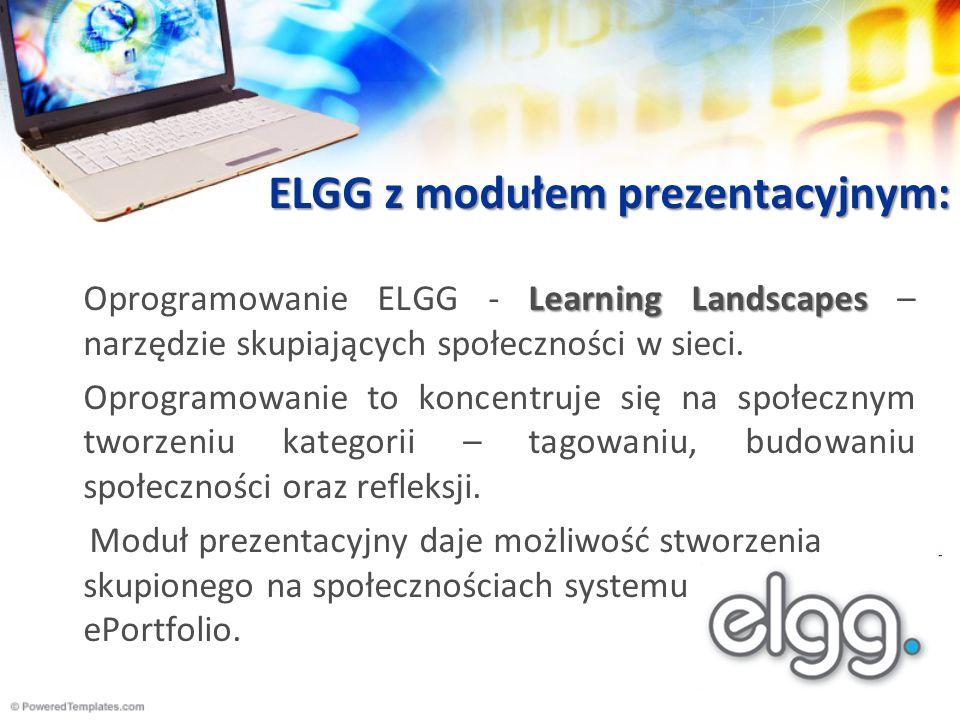 ELGG z modułem prezentacyjnym: