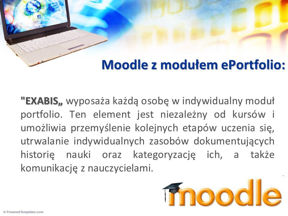 Moodle z modułem ePortfolio: