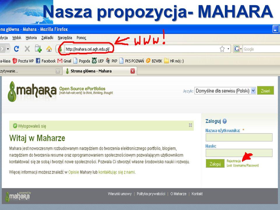 Nasza propozycja- MAHARA