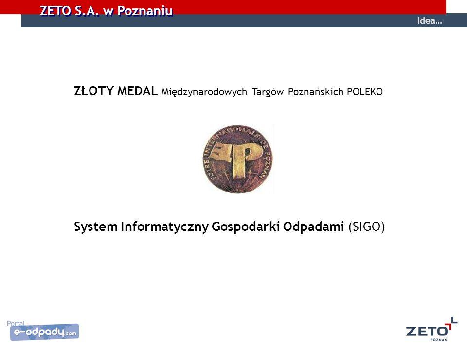 ZŁOTY MEDAL Międzynarodowych Targów Poznańskich POLEKO