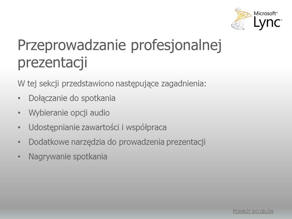 Przeprowadzanie profesjonalnej prezentacji