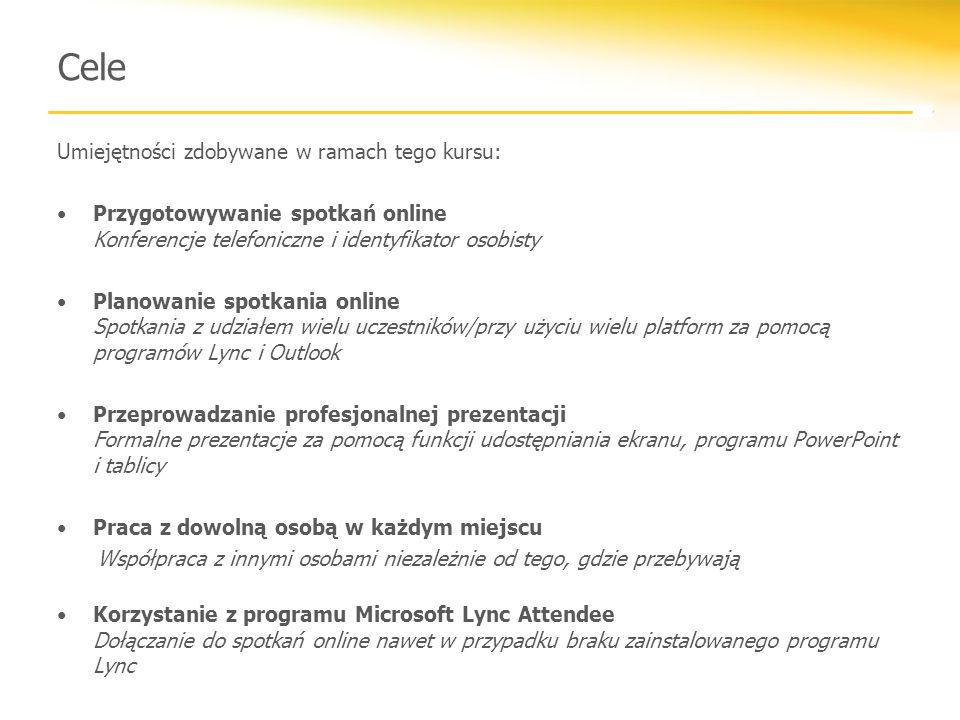 Cele Umiejętności zdobywane w ramach tego kursu: