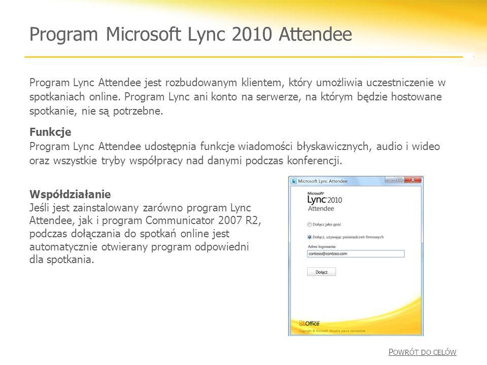 Program Microsoft Lync 2010 Attendee