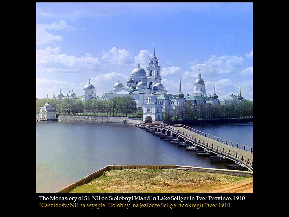The Monastery of St. Nil on Stolobnyi Island in Lake Seliger in Tver Province. 1910
