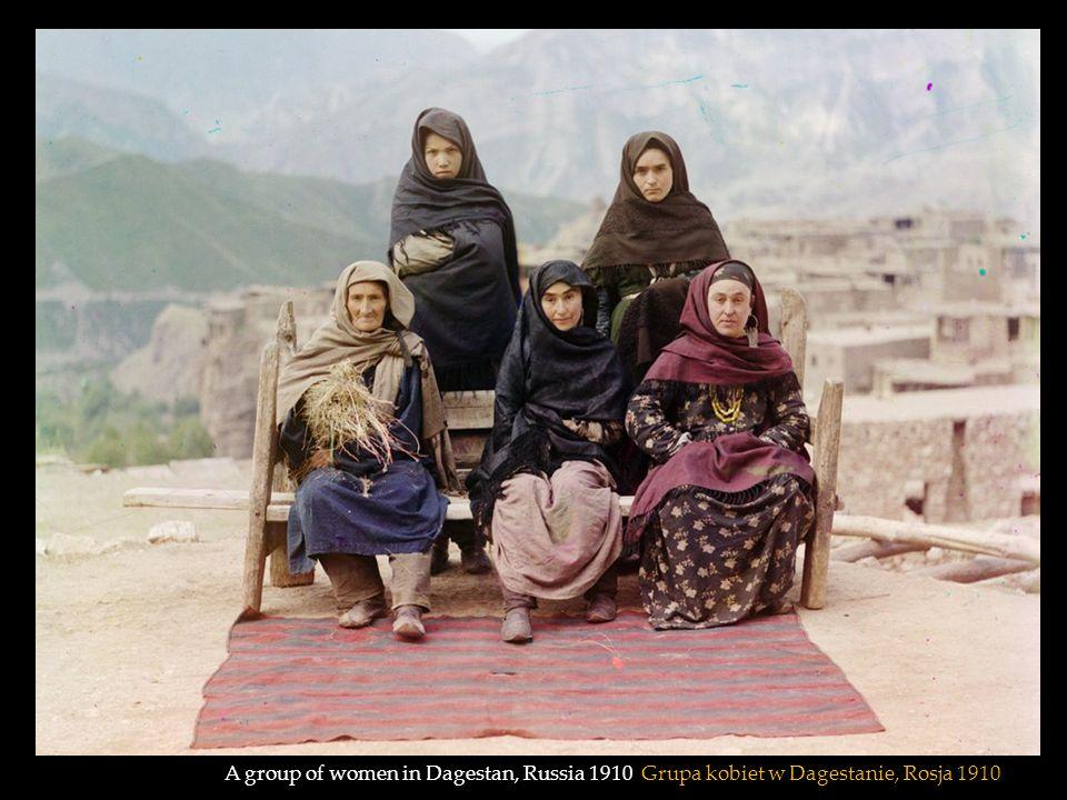 A group of women in Dagestan, Russia 1910 Grupa kobiet w Dagestanie, Rosja 1910