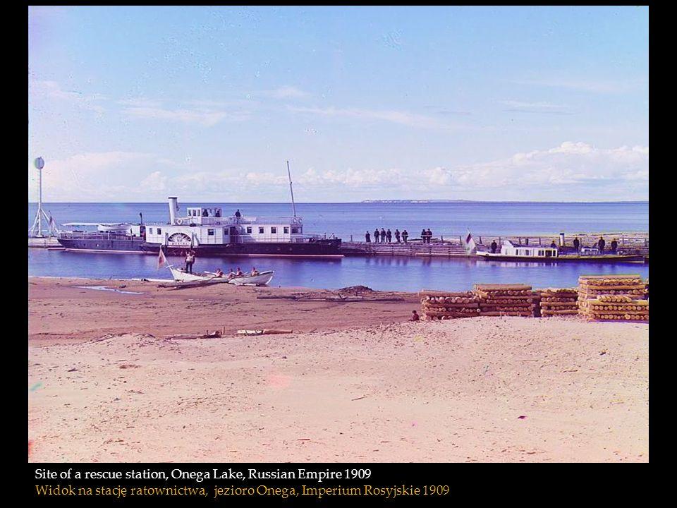 Site of a rescue station, Onega Lake, Russian Empire 1909 Widok na stację ratownictwa, jezioro Onega, Imperium Rosyjskie 1909