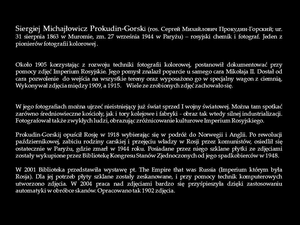 Siergiej Michajłowicz Prokudin-Gorski (ros