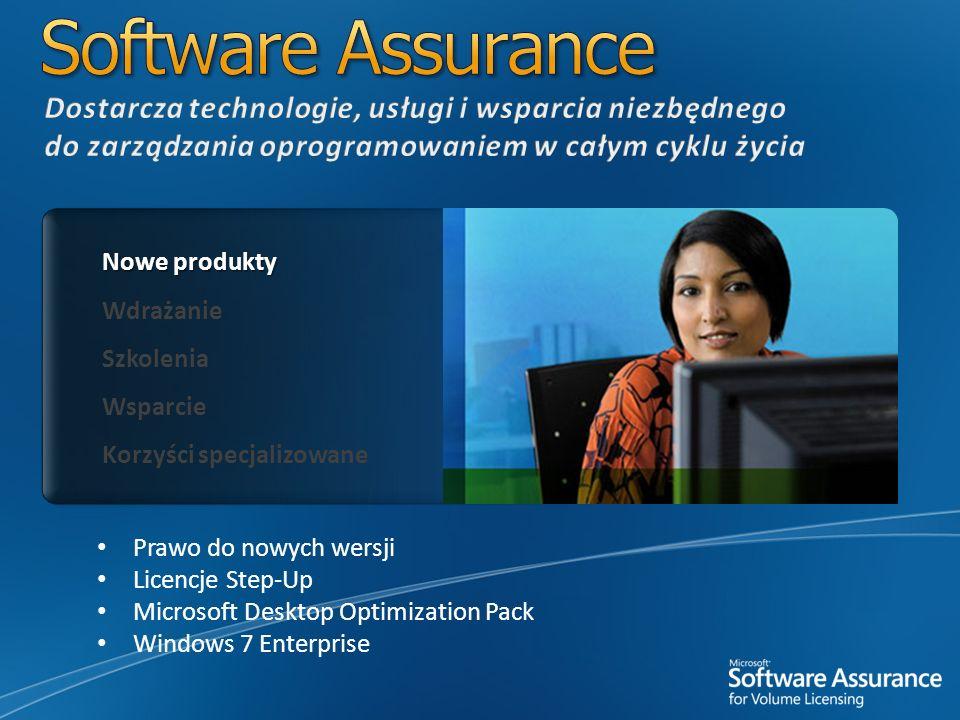 Software Assurance Dostarcza technologie, usługi i wsparcia niezbędnego do zarządzania oprogramowaniem w całym cyklu życia.