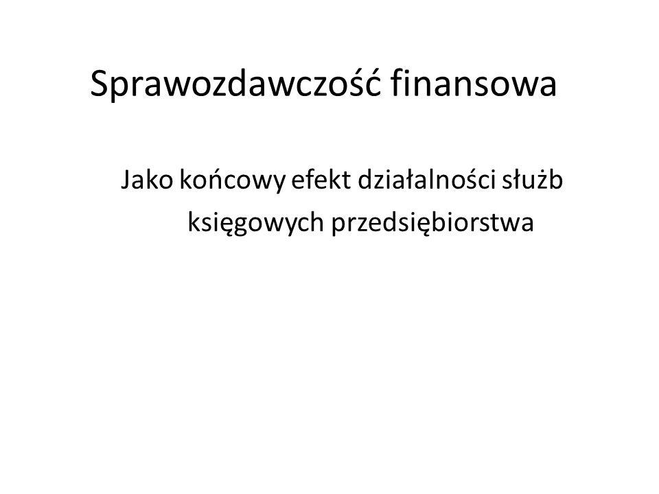 Sprawozdawczość finansowa