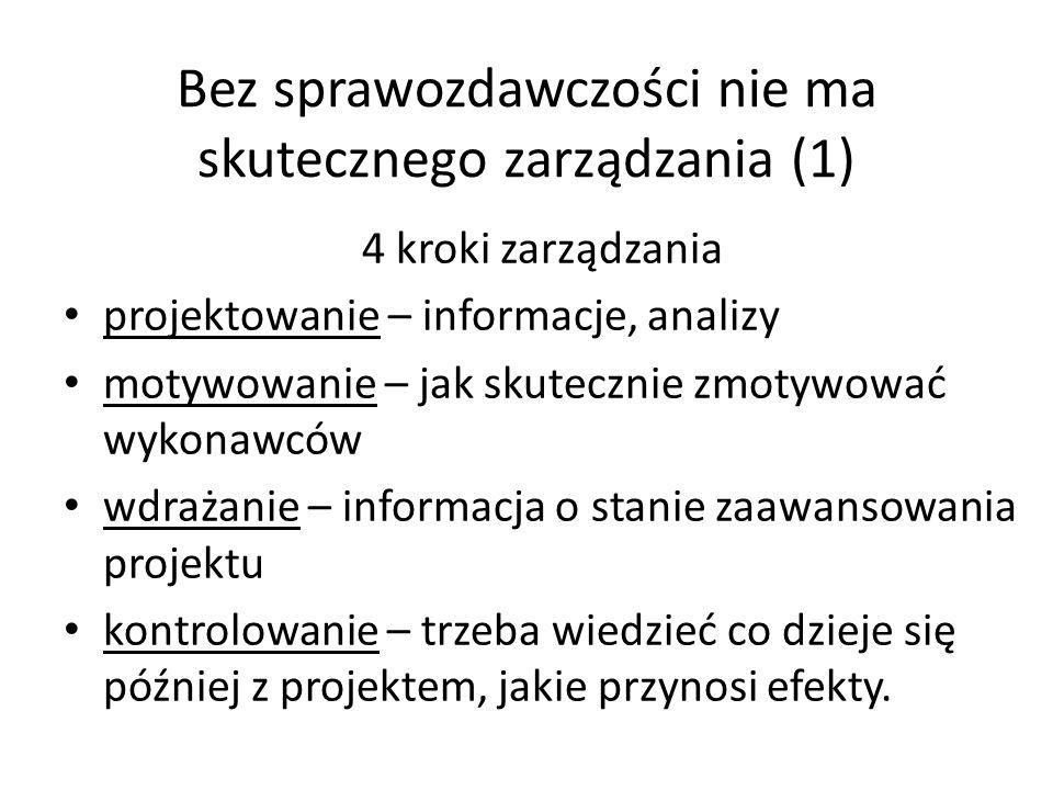Bez sprawozdawczości nie ma skutecznego zarządzania (1)