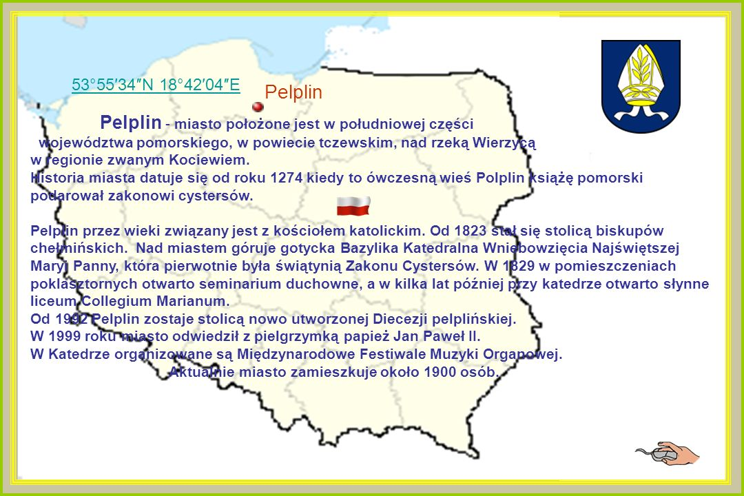 53°55′34″N 18°42′04″E Pelplin.