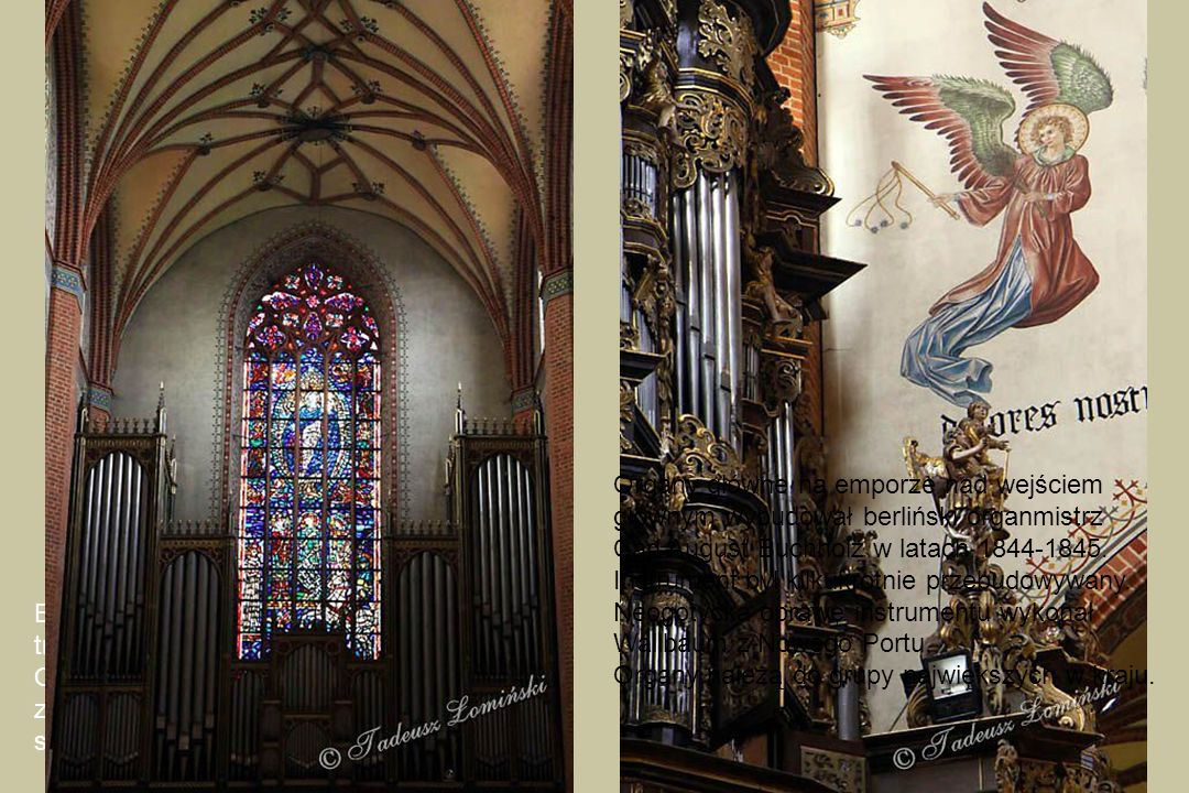 Barokowe organy na emporze południowego