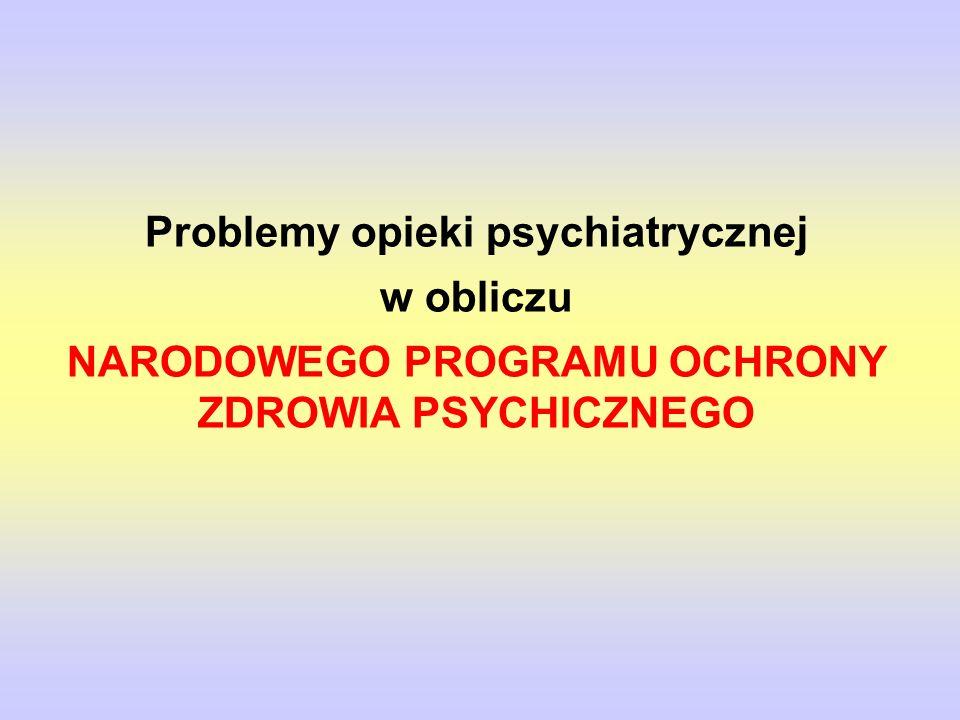 Problemy opieki psychiatrycznej w obliczu