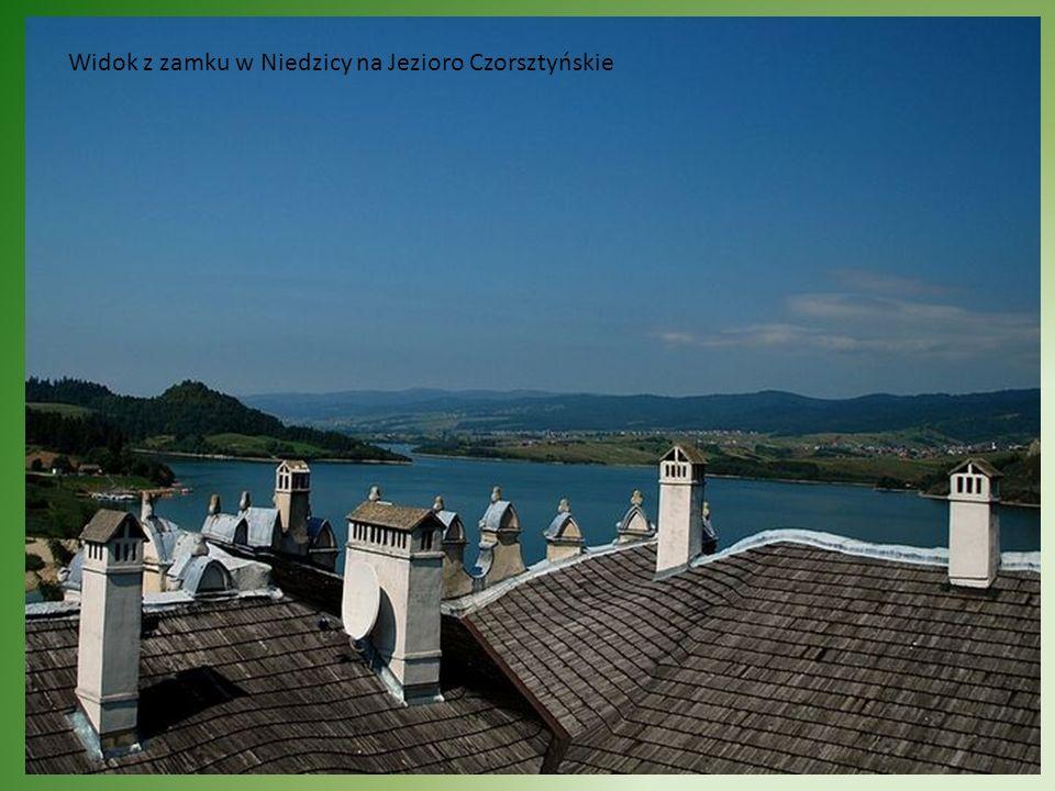 Widok z zamku w Niedzicy na Jezioro Czorsztyńskie