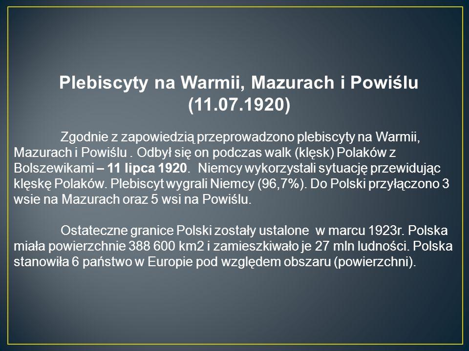 Plebiscyty na Warmii, Mazurach i Powiślu (11.07.1920)