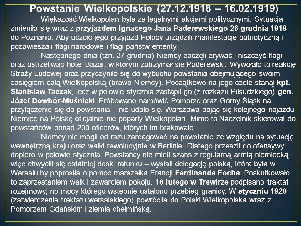 Powstanie Wielkopolskie (27.12.1918 – 16.02.1919)