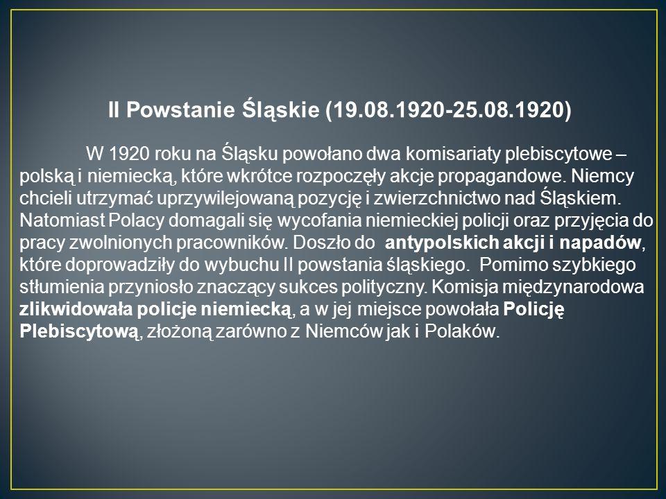II Powstanie Śląskie (19.08.1920-25.08.1920)
