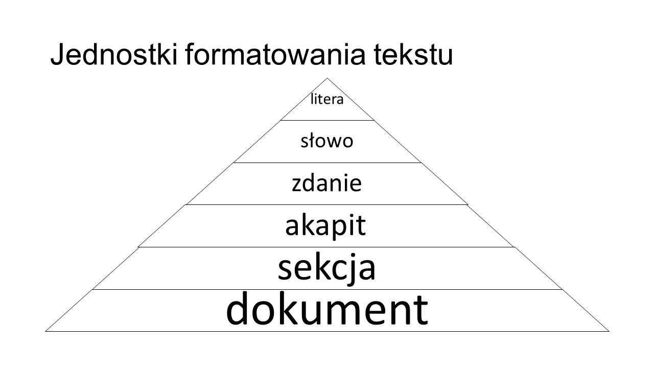 Jednostki formatowania tekstu