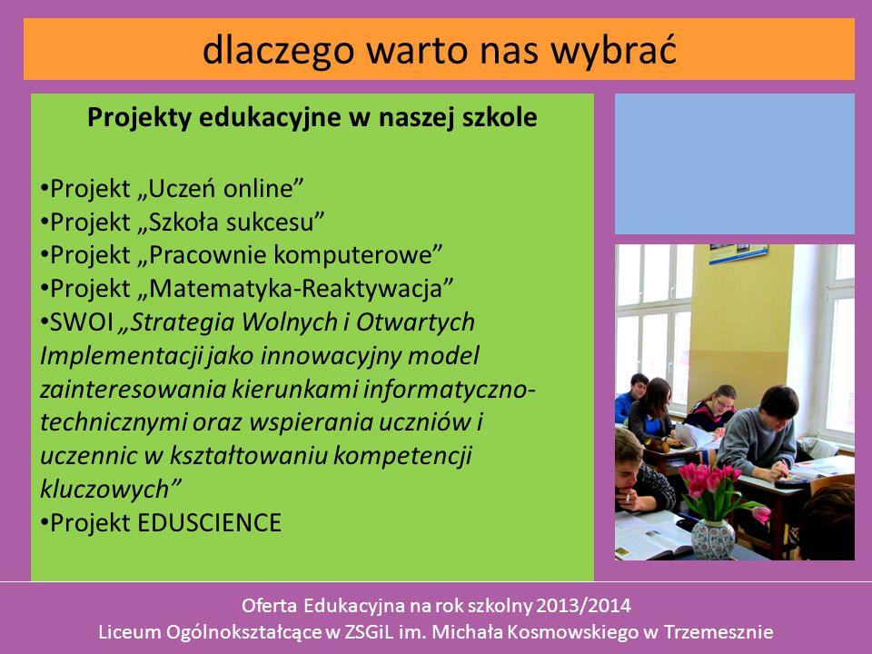 Projekty edukacyjne w naszej szkole