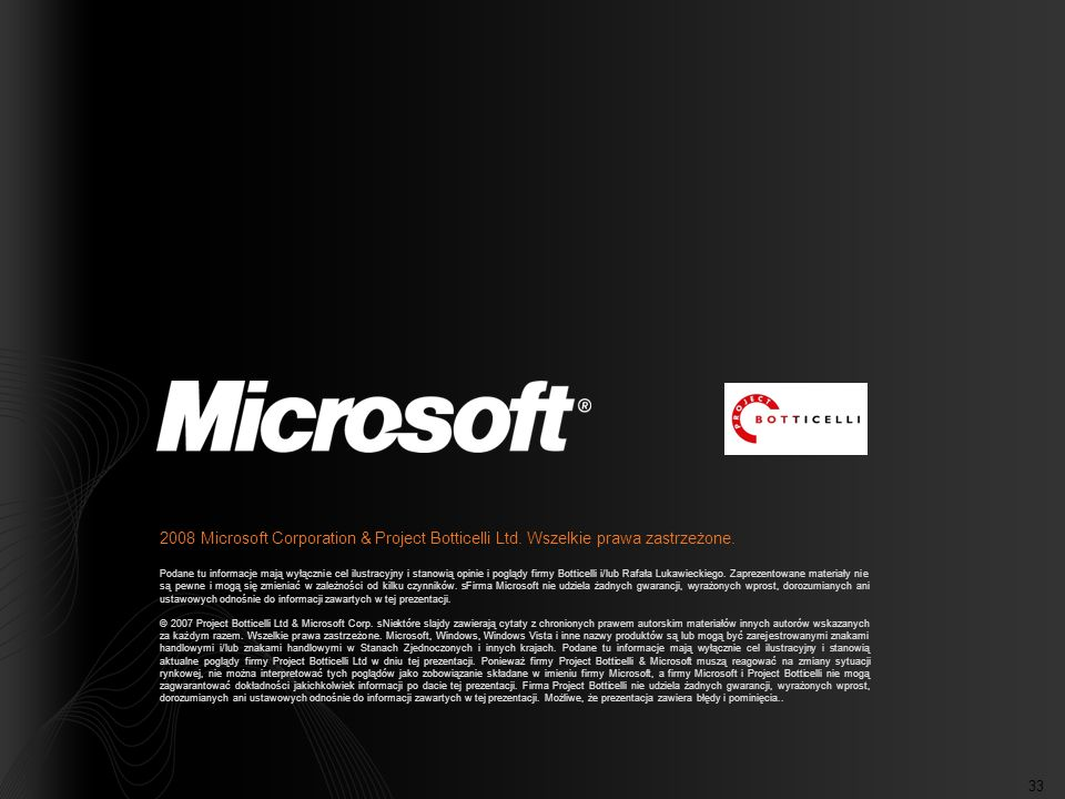 2008 Microsoft Corporation & Project Botticelli Ltd