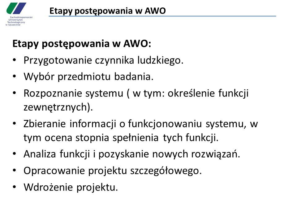 Etapy postępowania w AWO