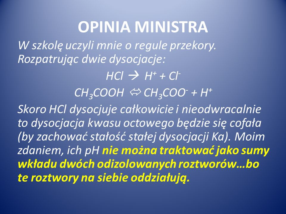 OPINIA MINISTRA