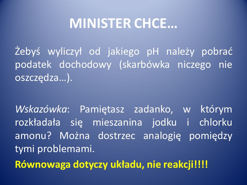 MINISTER CHCE…