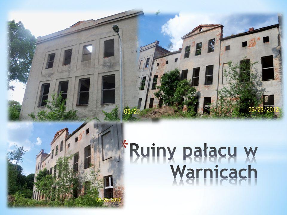 Ruiny pałacu w Warnicach