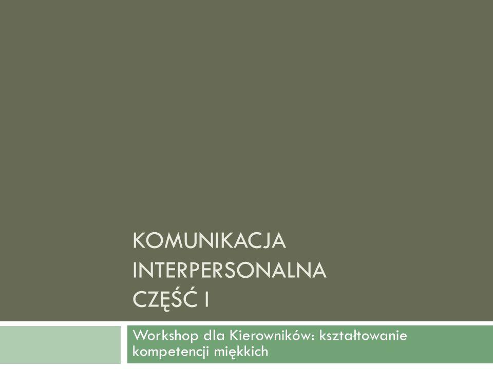 Komunikacja interpersonalna Część I