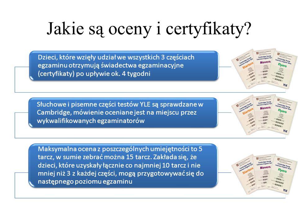Jakie są oceny i certyfikaty