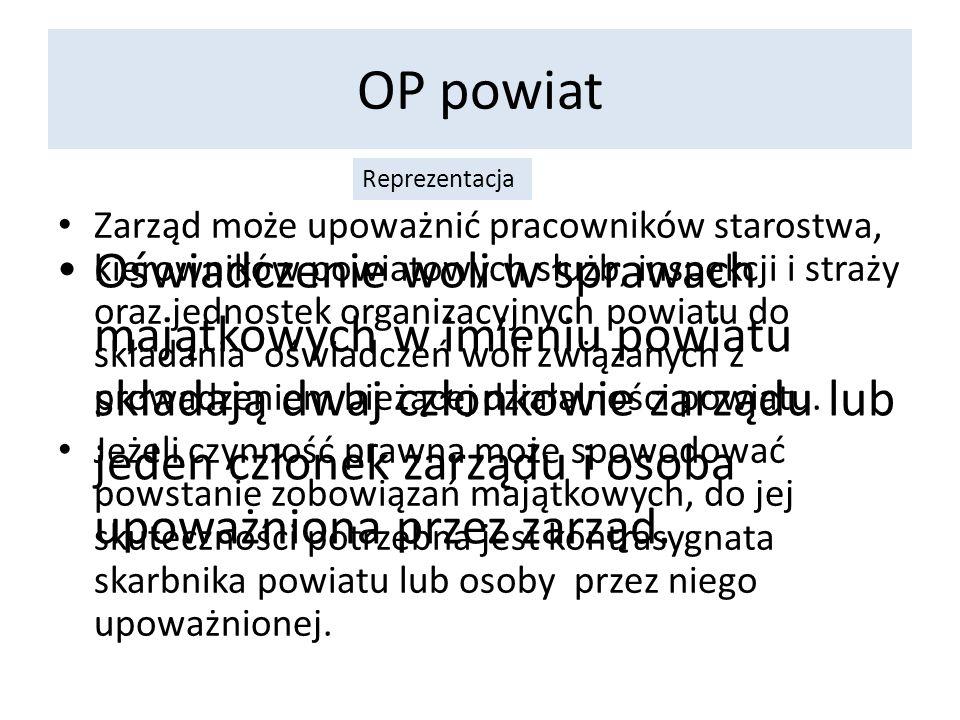 OP powiat Reprezentacja.