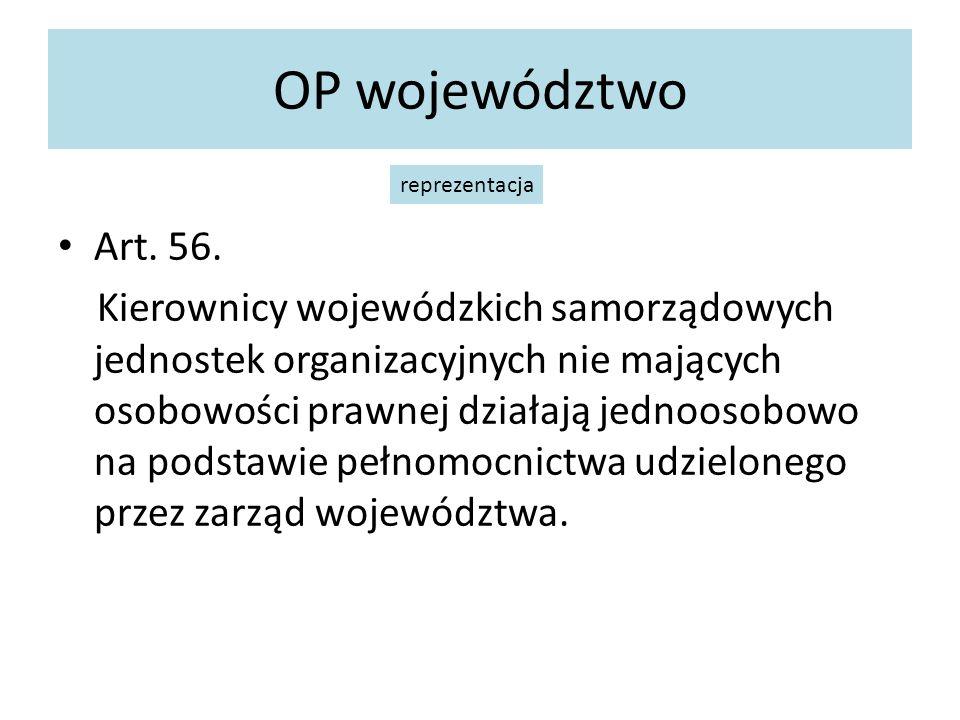 OP województwo reprezentacja. Art. 56.