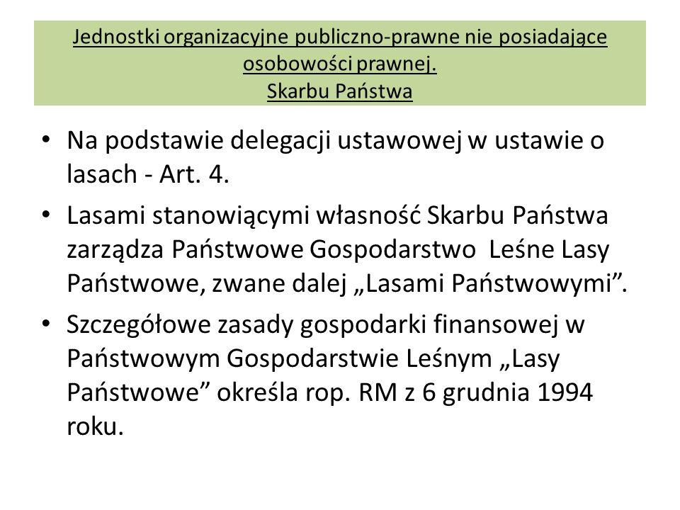 Na podstawie delegacji ustawowej w ustawie o lasach - Art. 4.