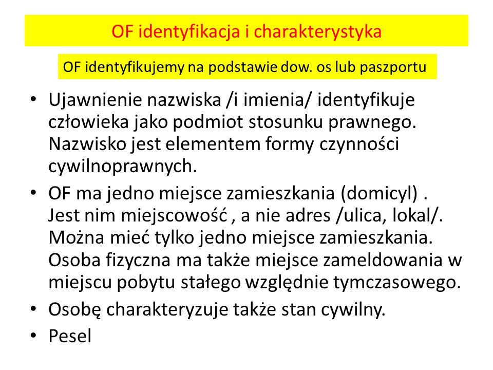 OF identyfikacja i charakterystyka