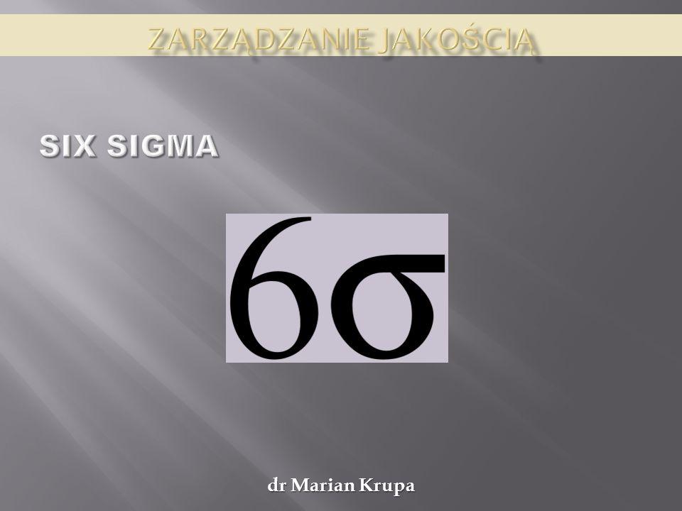 Zarządzanie jakością Six sigma dr Marian Krupa