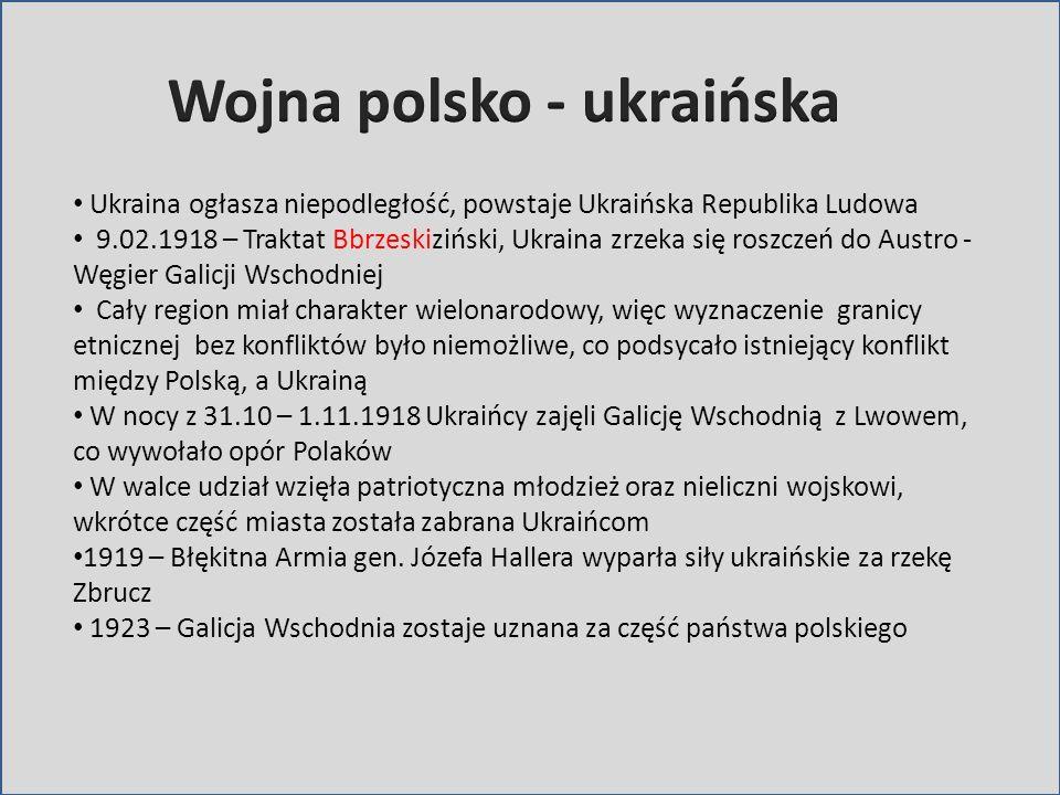 Wojna polsko - ukraińska