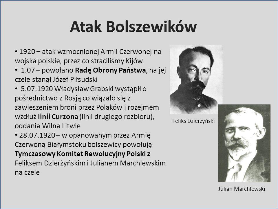 Atak Bolszewików 1920 – atak wzmocnionej Armii Czerwonej na wojska polskie, przez co straciliśmy Kijów.