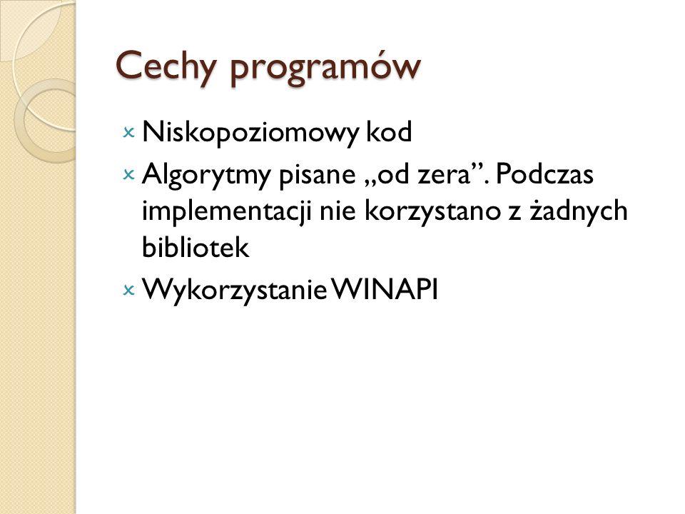 Cechy programów Niskopoziomowy kod
