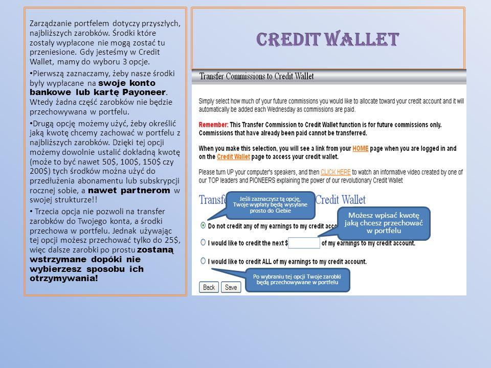 Zarządzanie portfelem dotyczy przyszłych, najbliższych zarobków