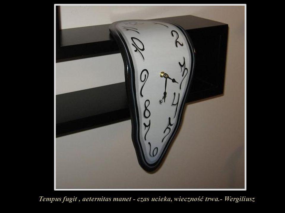 Tempus fugit , aeternitas manet - czas ucieka, wieczność trwa