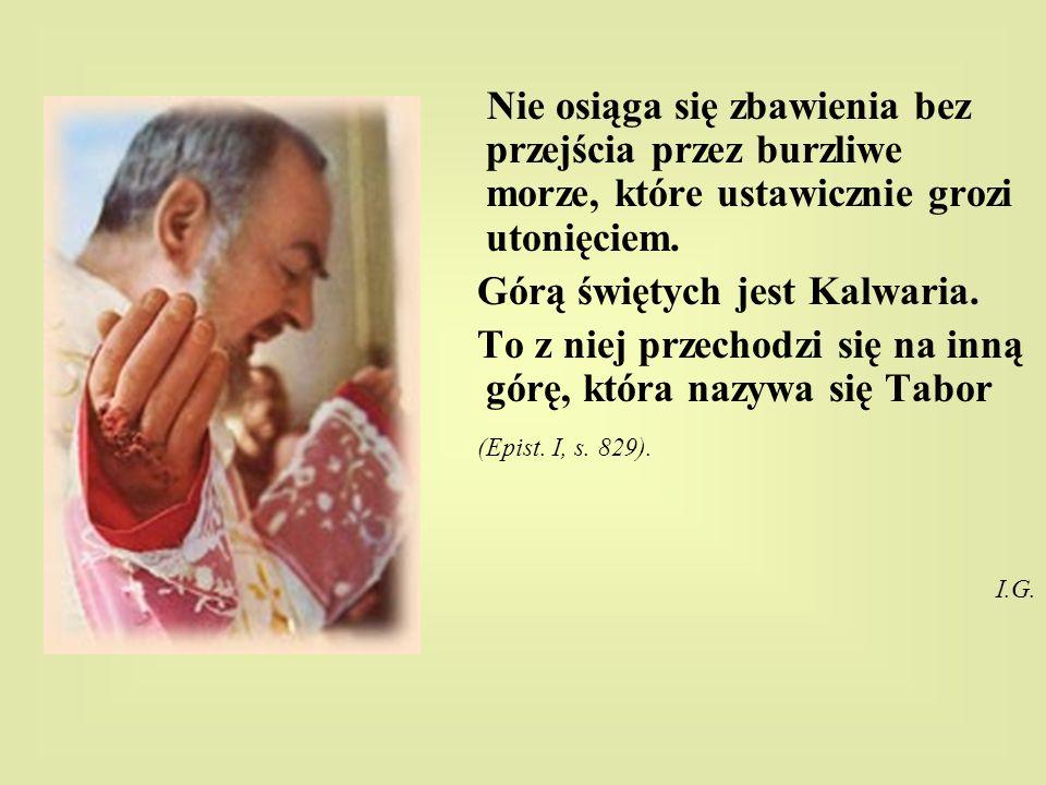 Górą świętych jest Kalwaria.