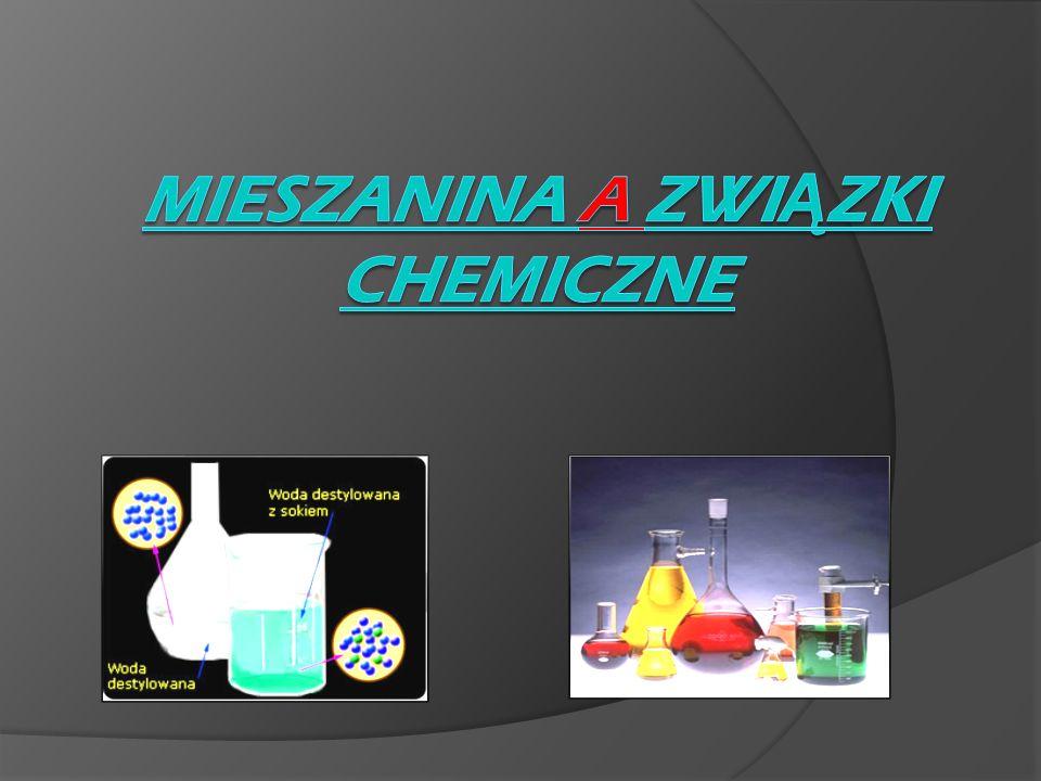 Mieszanina a związki chemiczne