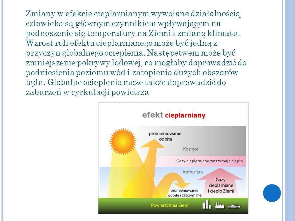Zmiany w efekcie cieplarnianym wywołane działalnością człowieka są głównym czynnikiem wpływającym na podnoszenie się temperatury na Ziemi i zmianę klimatu.
