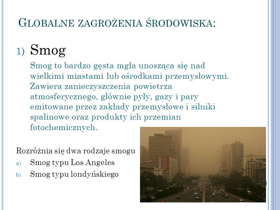 Globalne zagrożenia środowiska: