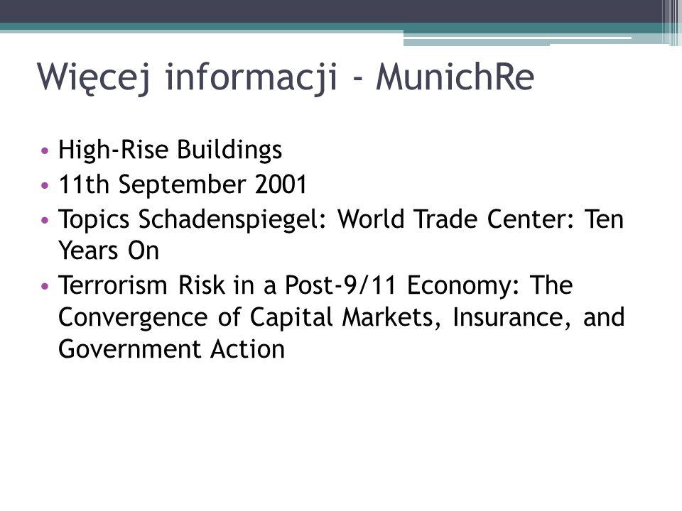 Więcej informacji - MunichRe