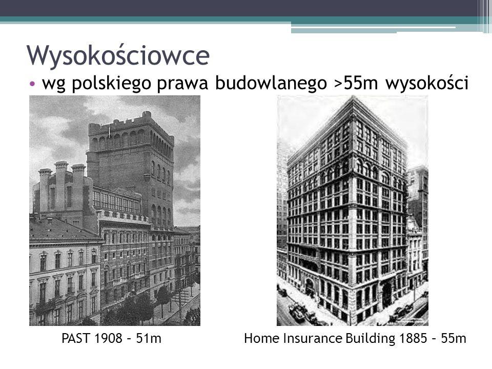 Wysokościowce wg polskiego prawa budowlanego >55m wysokości